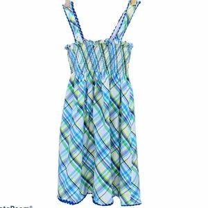 STRASBURG Girl's Plaid Smocked Bodice Sundress 4/5